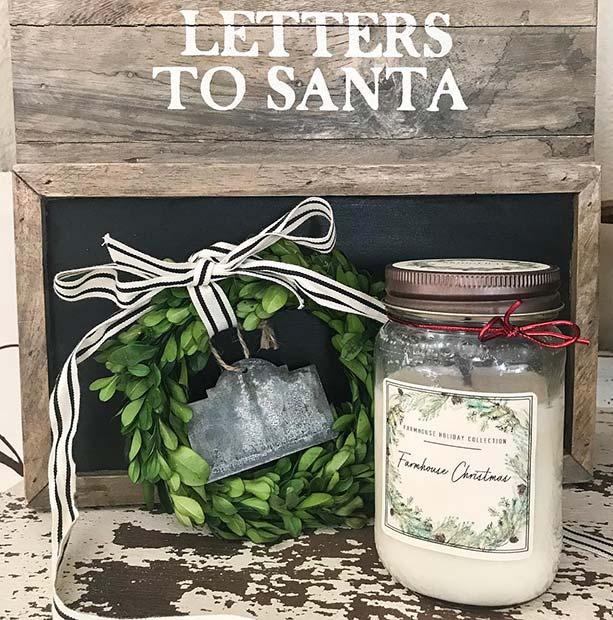 Letters to Santa Decor for Farmhouse Inspired Christmas Decor