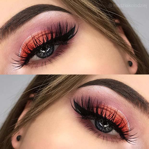 Vibrant Eye makeup for Makeup Ideas for Thanksgiving Dinner