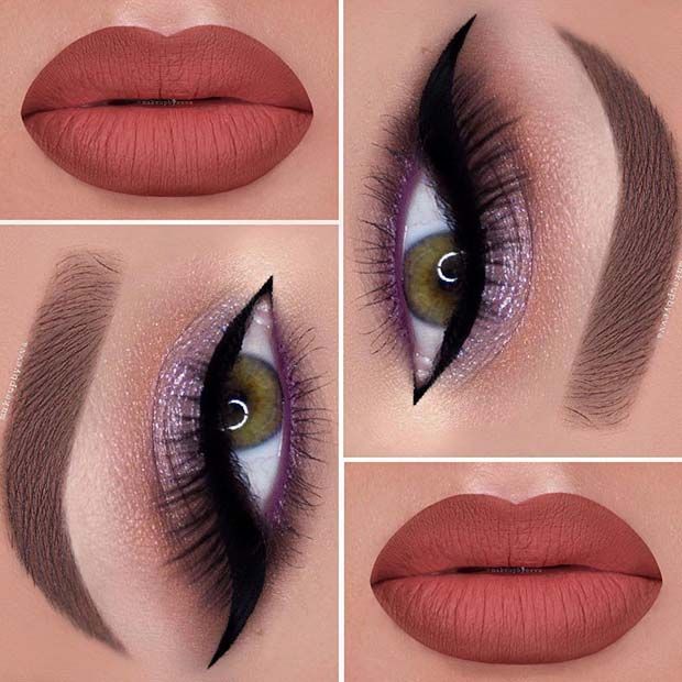 Stylish Makeup with Sparkle for Makeup Ideas for Thanksgiving Dinner