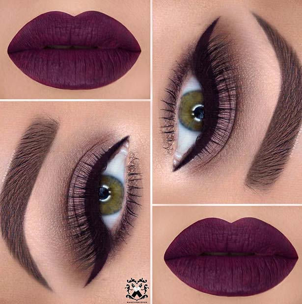 Bold Lip Color for Makeup Ideas for Thanksgiving Dinner
