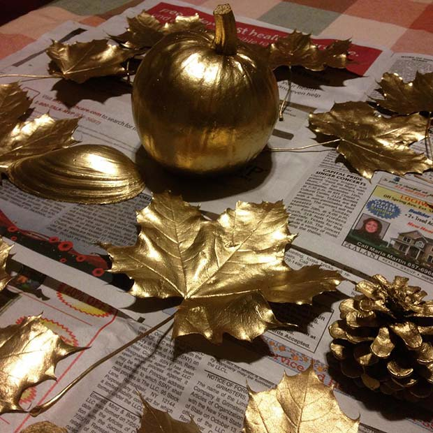 Gold Thanksgiving Crafts for Thanksgiving Crafts