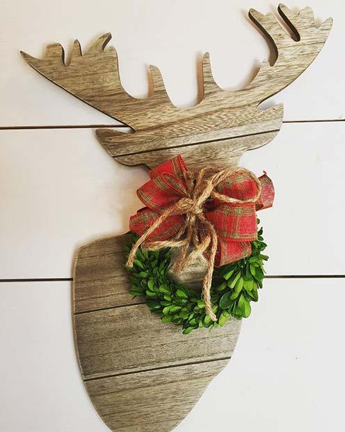 Christmas Deer Decor for Farmhouse Inspired Christmas Decor