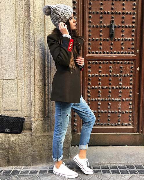 Military Style Winter Jacket for Cute Outfits to Copy This Winter