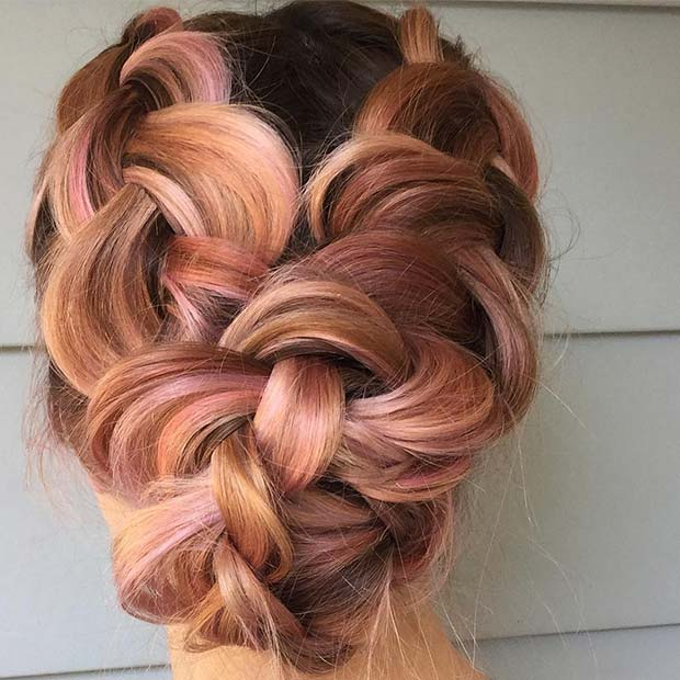Large Double Braids for Beautiful Braided Updos