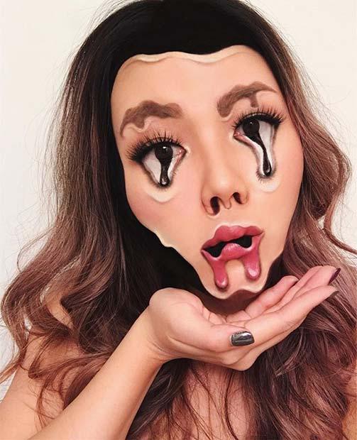 Melting Makeup for Mind-Blowing Halloween Makeup Looks