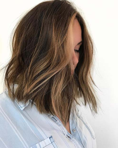 Brunette Long Bob for Lob Hairstyles for Fall and Winter