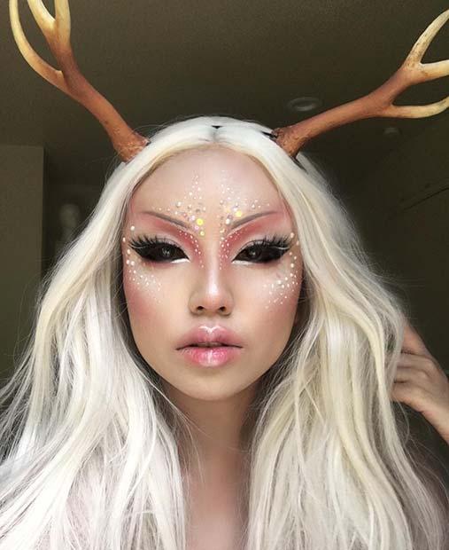 Deer Makeup for Best Halloween Makeup Ideas