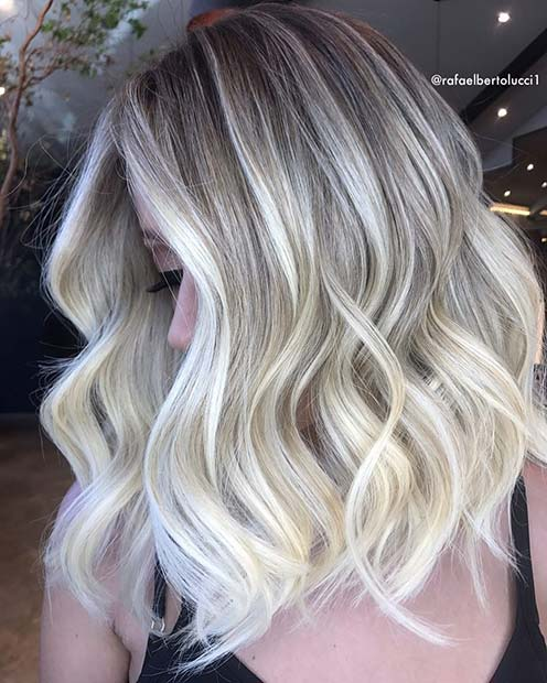 Pearly Blonde Lob for Lob Hairstyles for Fall and Winter