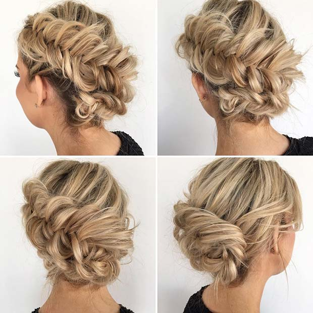 Side Fishtail Braid for Beautiful Braided Updos