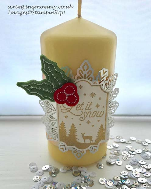 Christmas Candle for DIY Christmas Gift Ideas