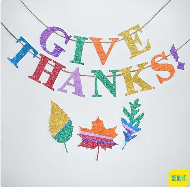 Give Thanks Banner for Thanksgiving Crafts