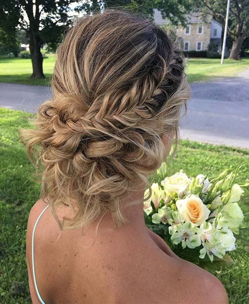 Beautiful Fishtail Braid Updo for Beautiful Braided Updos
