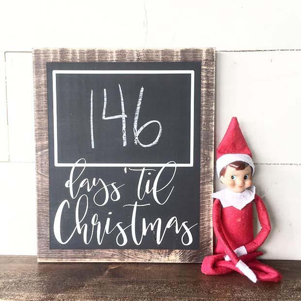 Rustic Christmas Countdown for Farmhouse Inspired Christmas Decor