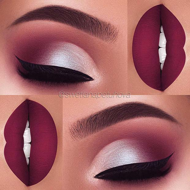 Fall Purples for Makeup Ideas for Thanksgiving Dinner