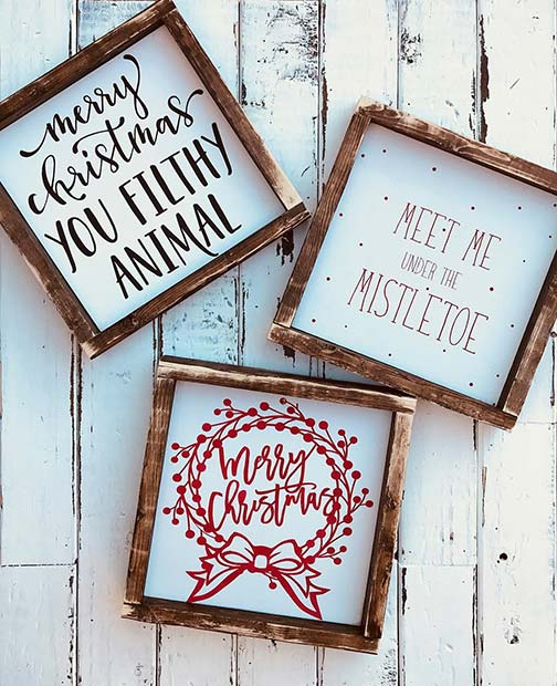Farmhouse Style Christmas Signs for Farmhouse Inspired Christmas Decor