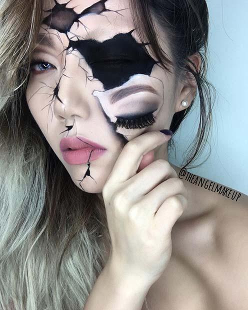 Illusion Halloween Makeup for Mind-Blowing Halloween Makeup Looks