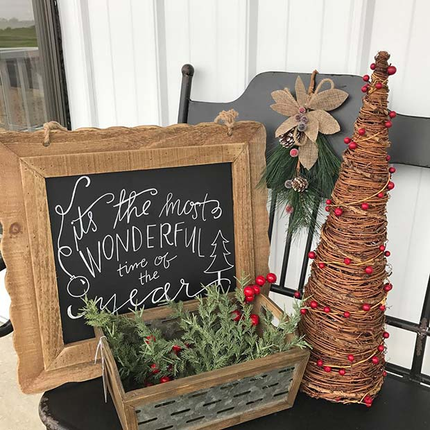 Rustic Christmas Decorations for Farmhouse Inspired Christmas Decor