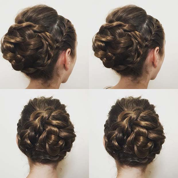 Braided Bun for Beautiful Braided Updos
