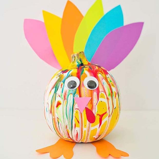 Fun Turkey Craft for Thanksgiving Crafts