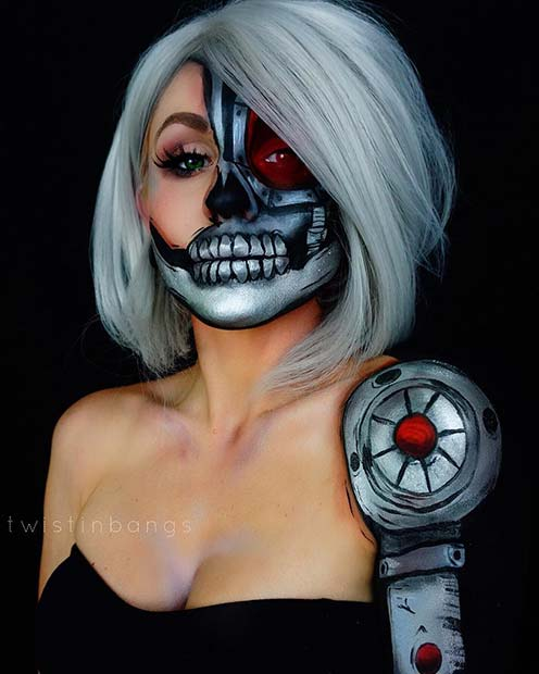 Cyborg Makeup for Mind-Blowing Halloween Makeup Looks