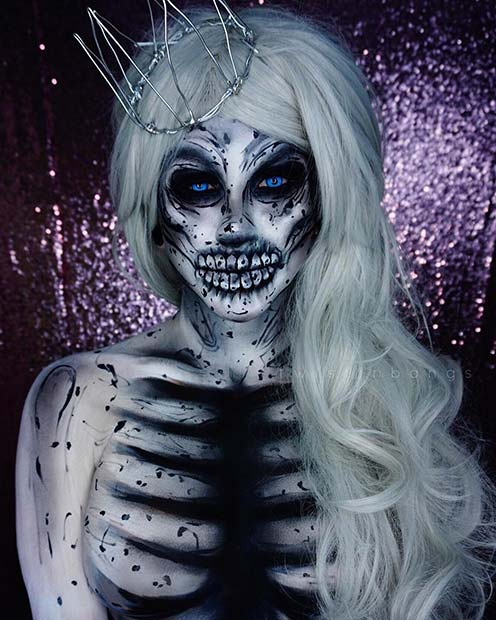 White Zombie Makeup for Mind-Blowing Halloween Makeup Looks