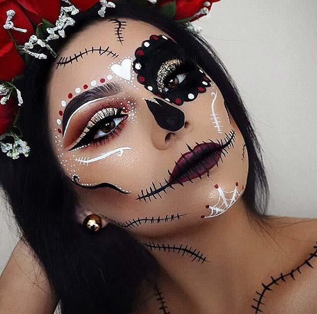 Sugar Skull Makeup for Best Halloween Makeup Ideas