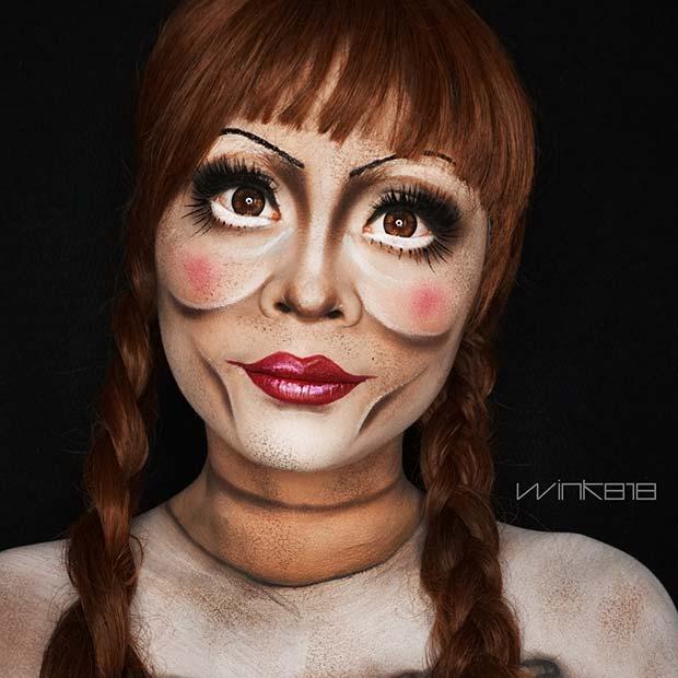 Creepy Doll Makeup for Best Halloween Makeup Ideas