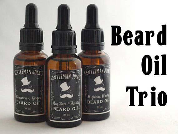 Beard Oil Trio Gift Idea