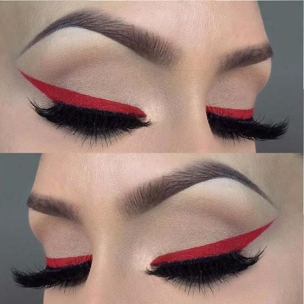 Bold Festive Red Eyeliner