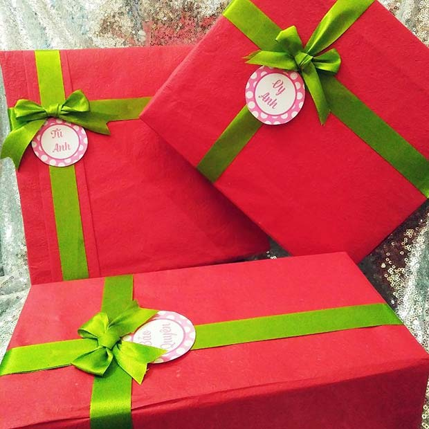 Bold Red and Green Christmas Wrapping
