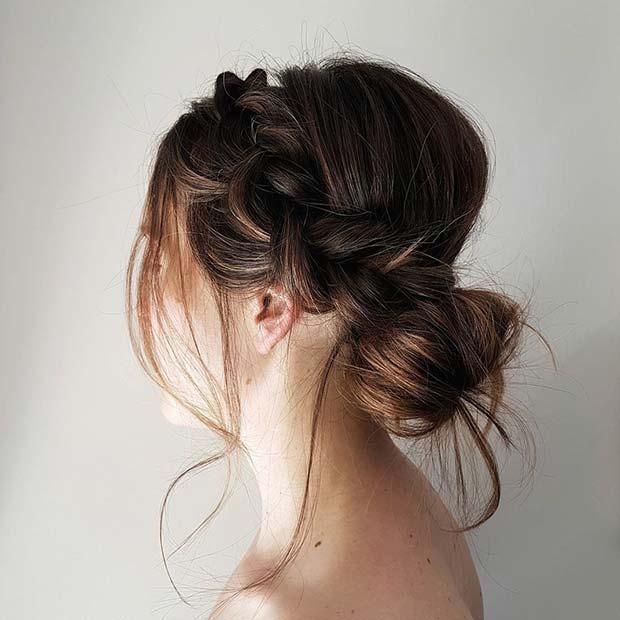 Braid Into a Bun Style