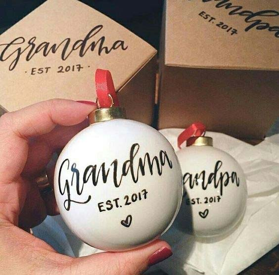 Christmas Baubles for Grandparents