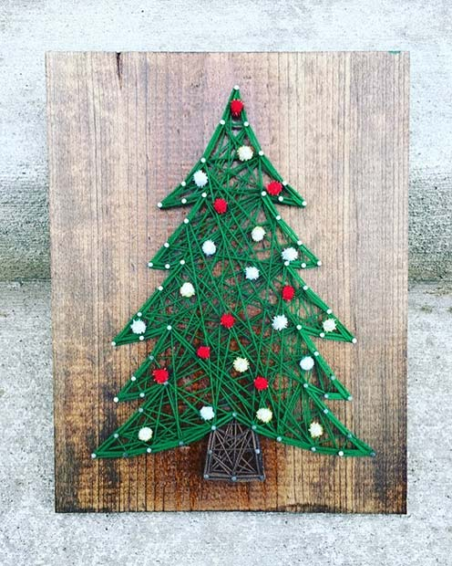 Christmas String Art