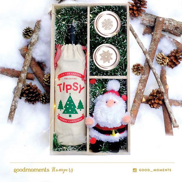 Christmas Wine Gift Idea