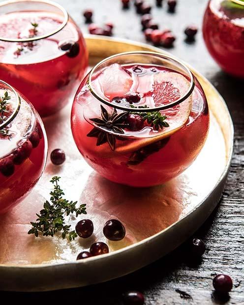 Cranberry Thyme Spritz