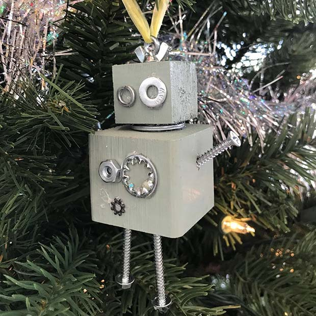 Cute Robot Tree Decoration
