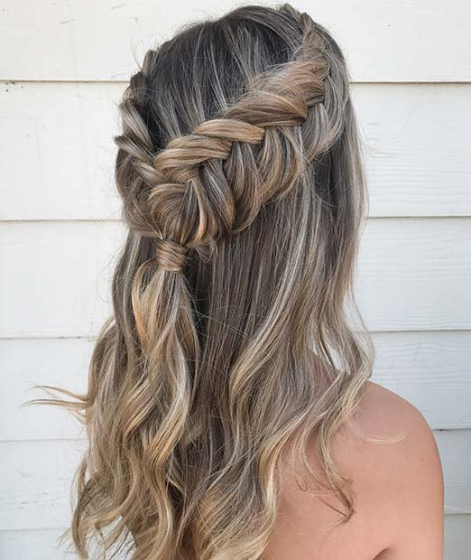 Dutch Fishtail Half Updo