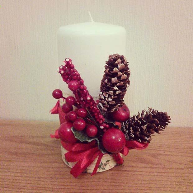 Festive DIY Candle