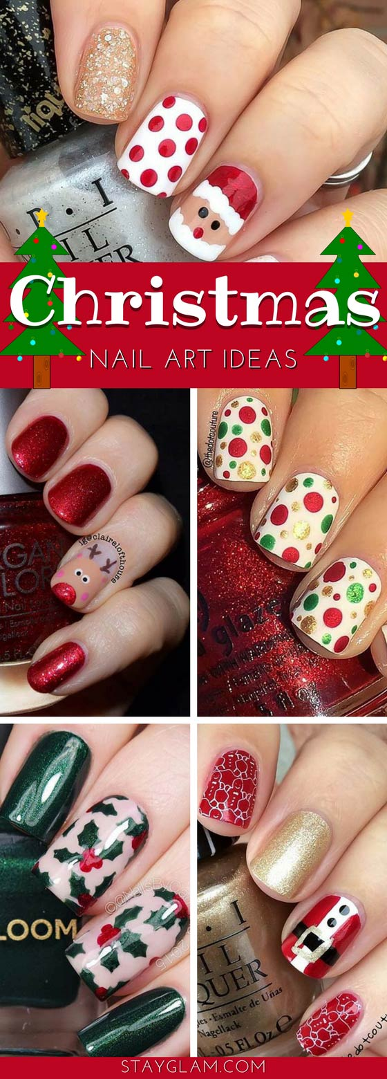 29 Festive Christmas Nail Art Ideas Stayglam