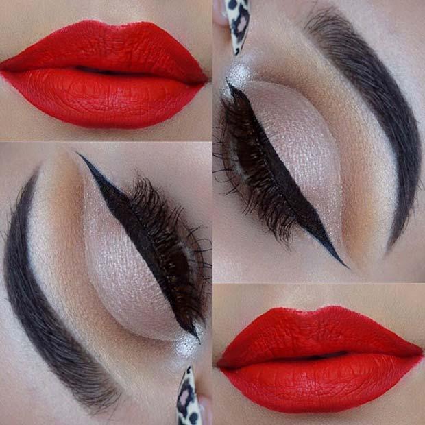 Classic Makeup Idea for Christmas