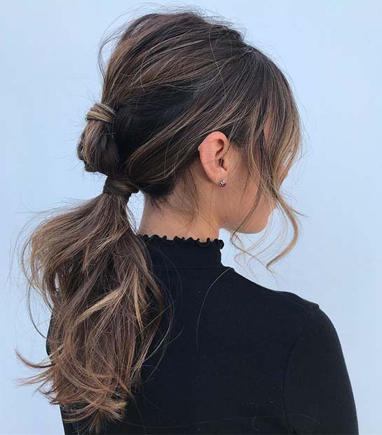 Funky Low Ponytail Style