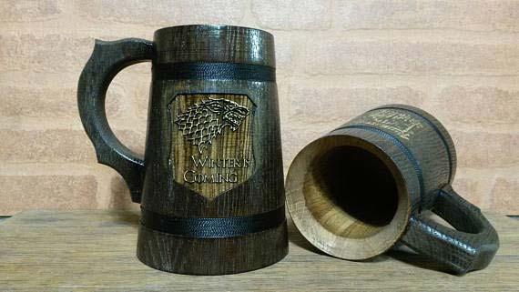 Game of Thrones Wooden Beer Mug
