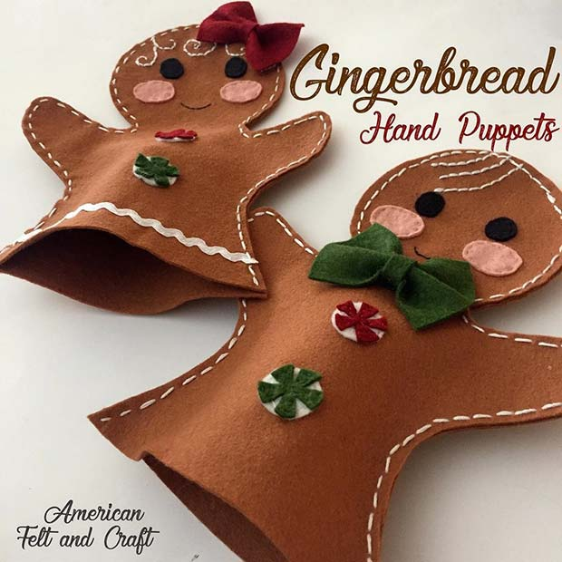 DIY Gingerbread Puppets