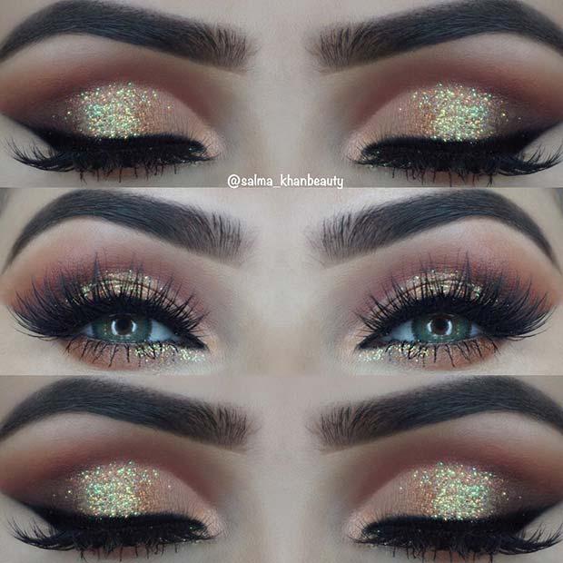 Glam Glitter Eye Makeup Look