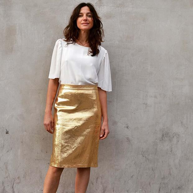 Glam Gold Skirt