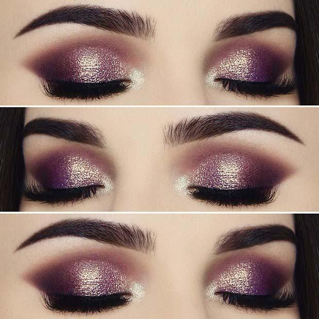 Glam Shimmer Eye Makeup Look