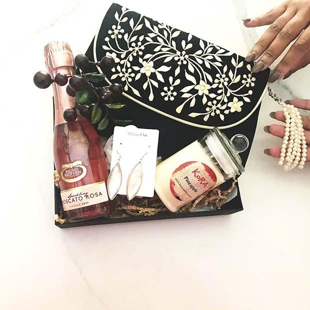Glamorous Gift Basket Idea for Her