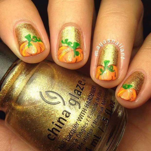 21 cute thanksgiving nail ideas stayglam