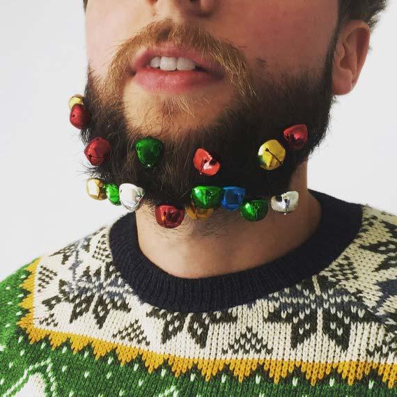Novelty Beard Baubles Christmas Gift