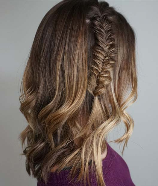 One Fishtail Braid Lob